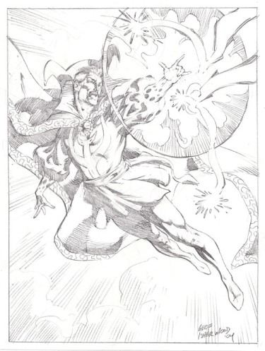 Doctor Strange, pencils by comics artist Geof Isherwood