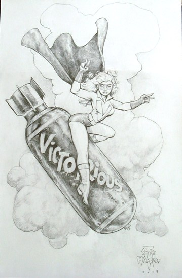 Miss Victory, pencils by comics artist Steve Mannion