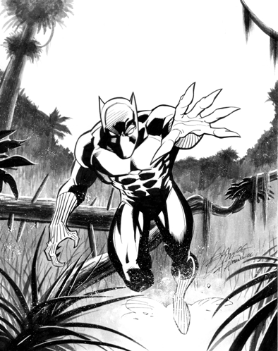 The Black Panther, pencils by Ron Lim, inks by Bob Almond