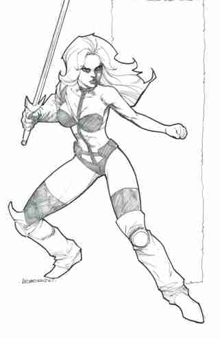 Taarna, pencils and inks by comics artist Alejandro Garza