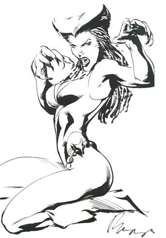 Vixen, pencils and inks by comics artist Buzz