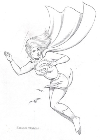 Supergirl, pencils by comics artist Ramona Fradon