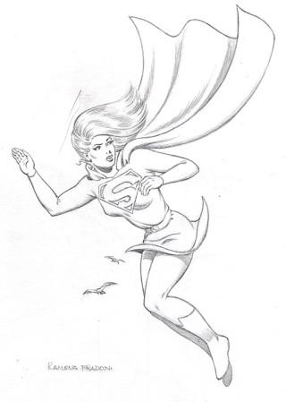 Supergirl, pencils by comics artist Ramona Fradon