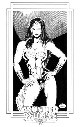Wonder Woman, pencils and inks by comics artist Michael Bair