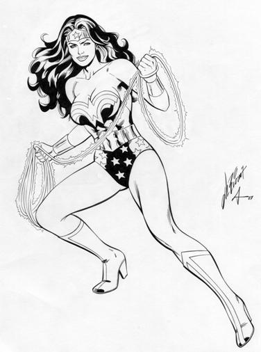 Wonder Woman, pencils by Al Rio, inks by Bob Almond