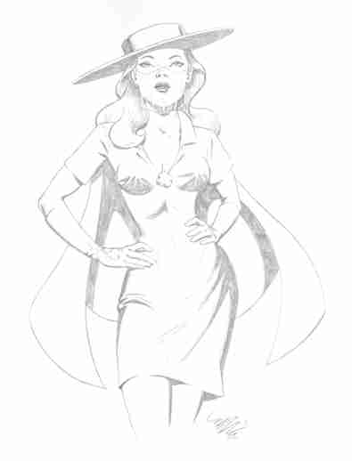 Lady Luck, pencils by comics artist Michael Dooney