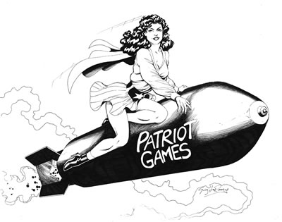 Pat Patriot, pencils and inks by comics artist Greg LaRocque