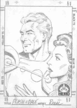 Flash Gordon and Dale Arden, pencils by comics artist Ralph Reese