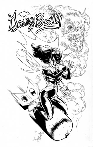 Bombshell! Batwoman, pencils and inks by comics artist John Lucas