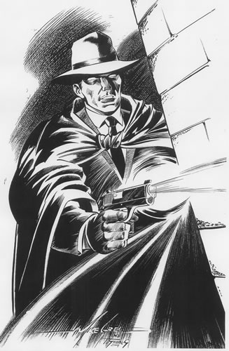 The Crimson Avenger, pencils by Mike Grell, inks by Terry Staats