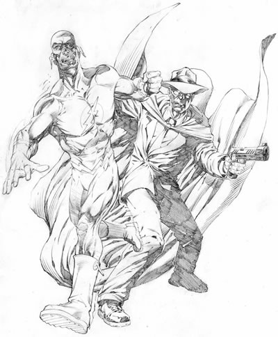 The Flash and the Crimson Avenger, pencils by comics artist Christopher Ivy