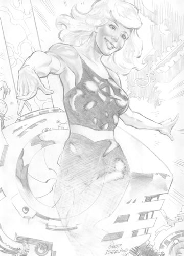 The Invisible Woman, pencils by comics artist Geof Isherwood