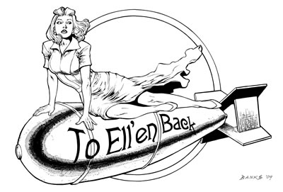 The Spirit's Bombshells: Ellen Dolan, pencils and inks by comics artist Darryl Banks