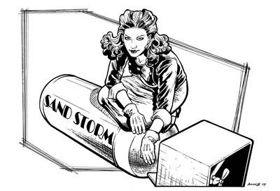 Sand Saref, pencils and inks by comics artist Darryl Banks