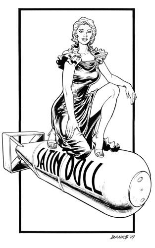 Silk Satin, pencils and inks by comics artist Darryl Banks