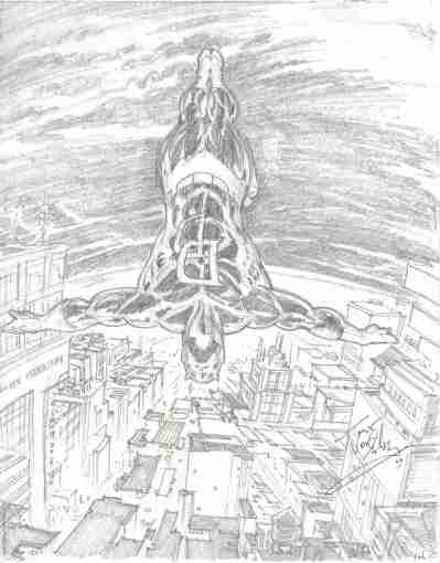 Daredevil, pencils by comics artist Trevor Von Eeden