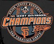 The San Francisco Giants are the 2010 National League West Champs!