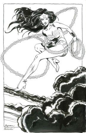 Wonder Woman, pencils by June Brigman, inks by Roy Richardson
