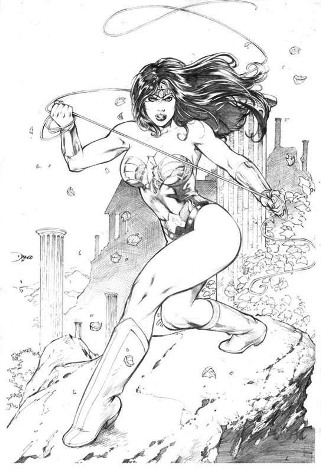 Wonder Woman, pencils by comics artist Diego Bernard