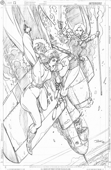 Valkyrie (Airboy) and Valkyrie (Marvel), pencils by comics artist Val Semeiks