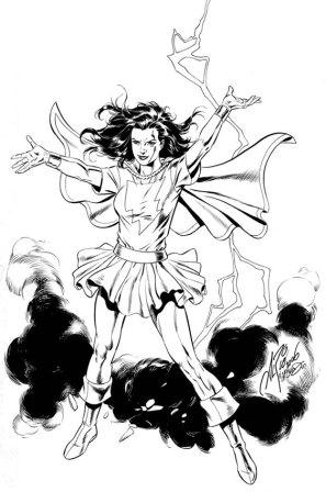 Mary Marvel, pencils by Al Rio, inks by Bob McLeod