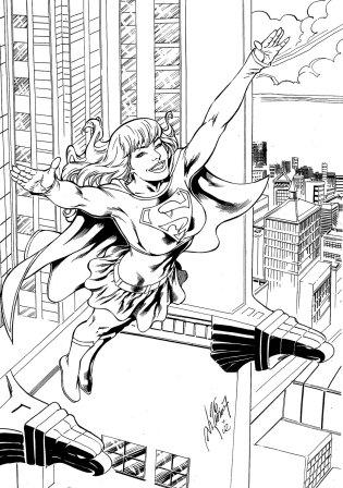 Supergirl, pencils by Al Rio, inks by Joe Rubinstein