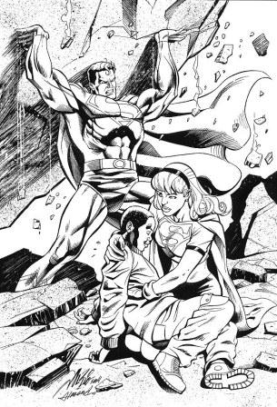 Superman and Supergirl, pencils by Al Rio, inks by Bob Almond