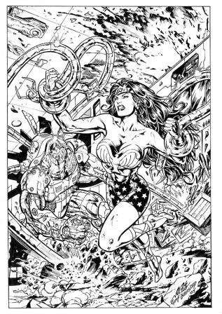Wonder Woman, pencils by Al Rio, inks by Geof Isherwood