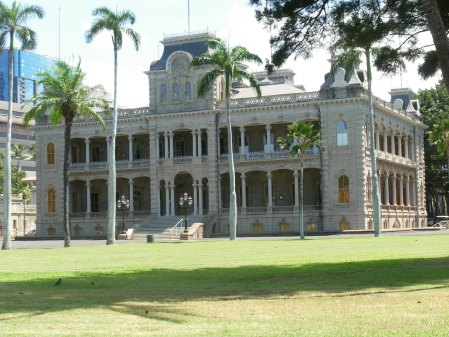 Iolani Palace: Not the actual home of Hawaii Five-O.