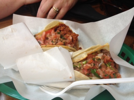 Tacos at La Taqueria