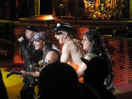 The Scorpions: Klaus Meine, Matthias Jabs, Rudolf Schenker, and Paweł Maciwoda