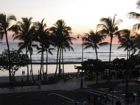 "Sunset on Waikiki Beach. Just say ""ahhhhh."""