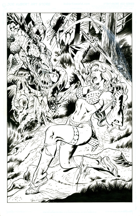 Red Sonja, pencils by Al Rio, inks by Bob Almond