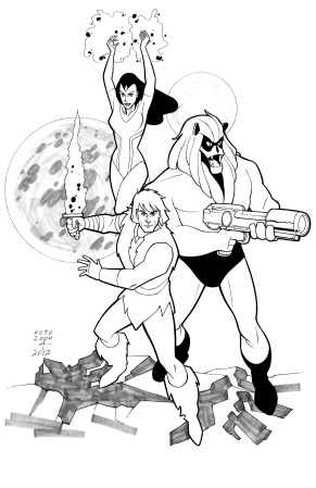 Thundarr the Barbarian, inks by Phil Noto, inks by Bob Almond