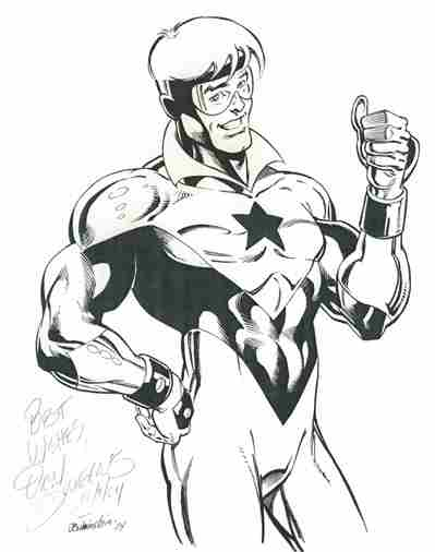 Booster Gold, pencils by Dan Jurgens, inks by Joe Rubinstein