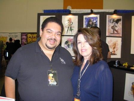 Olivia and fan, Big Wow 2013