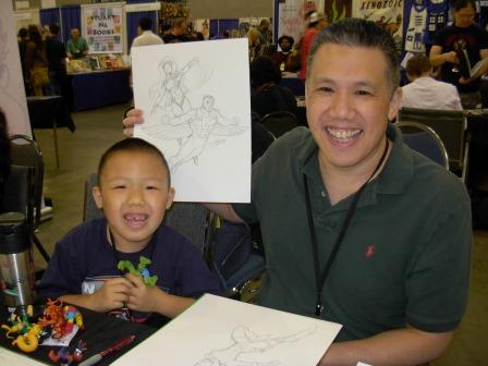 Ron Lim and son, Big Wow 2013