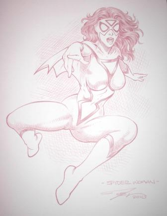 Spider-Woman, pencils by comics artist Joel Adams