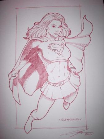 Supergirl, pencils by comics artist Joel Adams