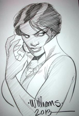 Vixen, pencils and inks by comics artist David Williams
