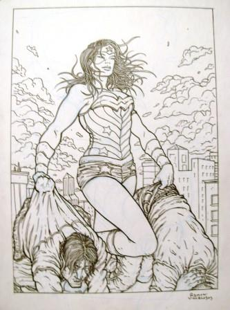 Wonder Woman, pencils and inks by comics artist Ramon Villalobos