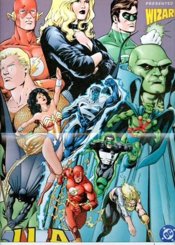 JLA: Year One mini-poster by Barry Kitson, published in Wizard Magazine
