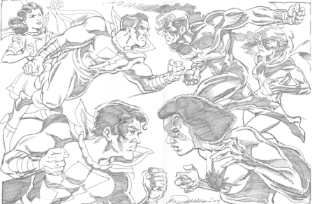Marvels vs. Marvels, pencils by Luke McDonnell