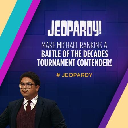 Choose Michael Rankins as your Jeopardy! 1980s Fan Favorite!