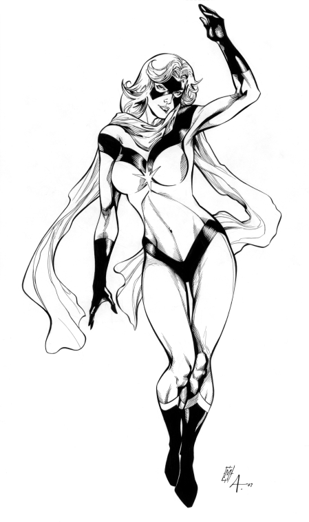 Ms. Marvel, pencils by Matthew Clark, inks by Bob Almond