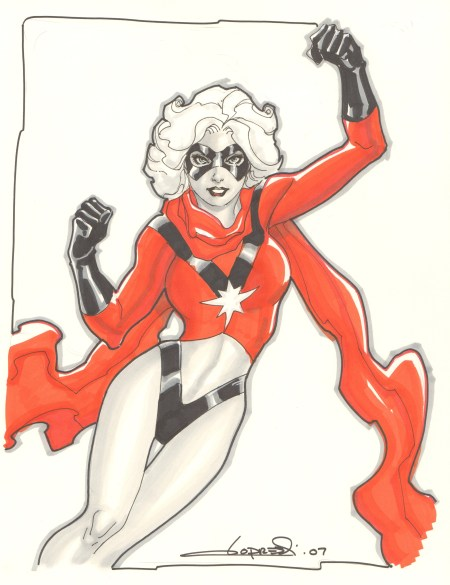 Ms. Marvel, pencils and inks by Aaron Lopresti