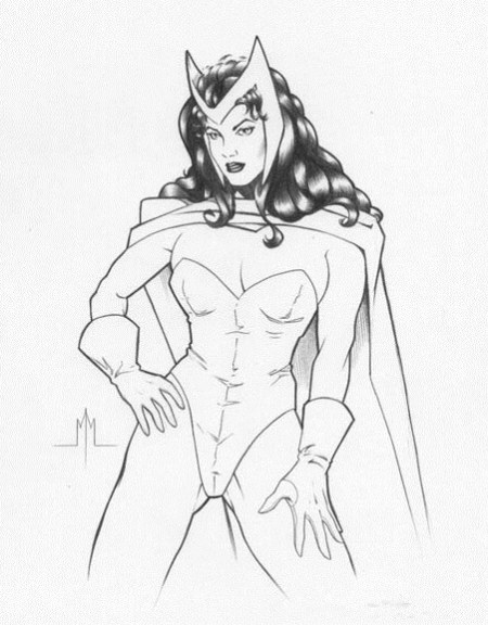 The Scarlet Witch, pencils by Michael McDaniel