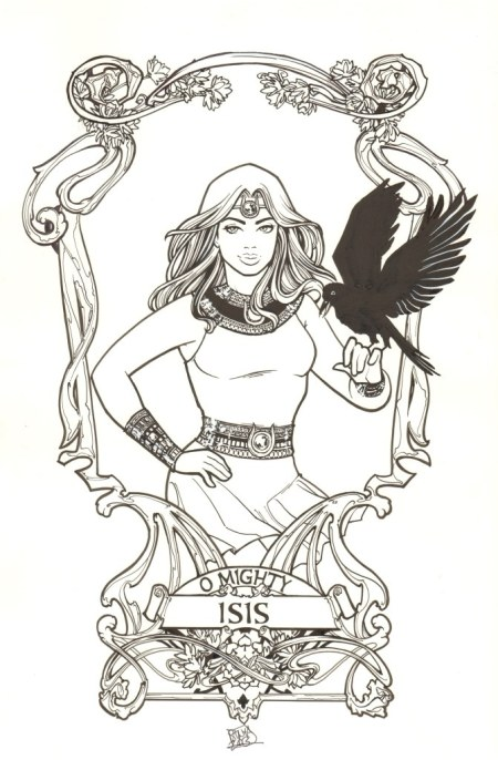 Isis, pencils and inks by comics artist Sanya Anwar