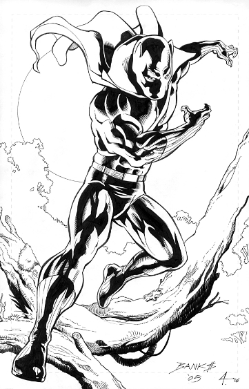 Black Panther, pencils by Darryl Banks, inks by Bob Almond