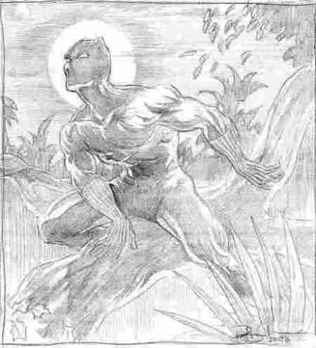 Black Panther, pencils by Paul Boudreaux